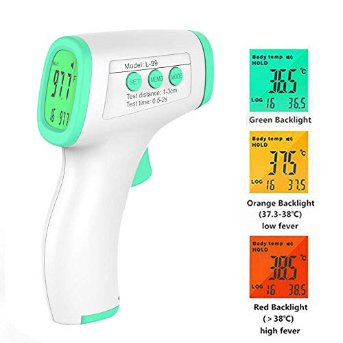LXDART Digital Medical Forehead and Ear Thermometer Professional Infrared Temporal Fever Hand Held Thermometers Non Contact Accurate Instant Readings Laser Temperature Gun for Baby Kids Adults