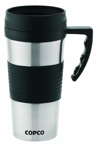 Copco Terra Brushed Stainless Travel Mug, 14-Ounce