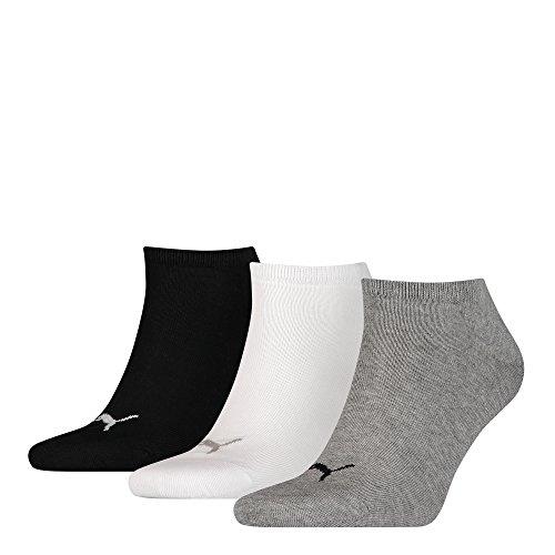 Puma, calzini corti unisex, 9 paia di calzini corti per sport e tempo libero Grigio/bianco/nero...