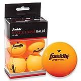 Franklin Sports Table Tennis Balls - 40Mm Ball - One Star Ball - 6 Pack of Offcial Orange Table Tennis Balls - Advanced Ping Pong Training Balls