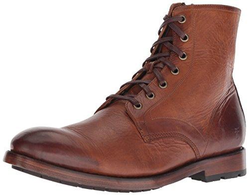 Frye Men's Bowery Lace Up Combat Boot, Cognac, 10 Medium US