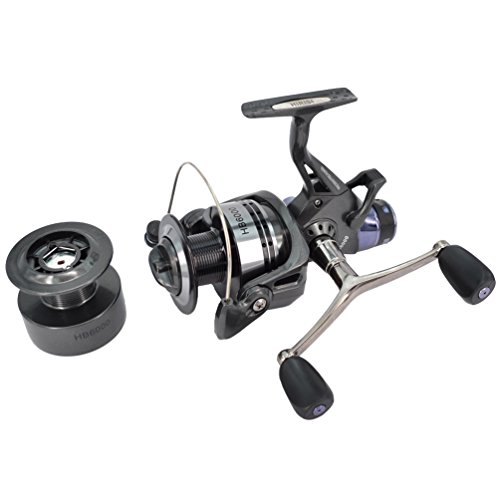 Hirisi Tackle Carp Fishing Reel Spinning Free Runner with Free Extra Spool (6000)