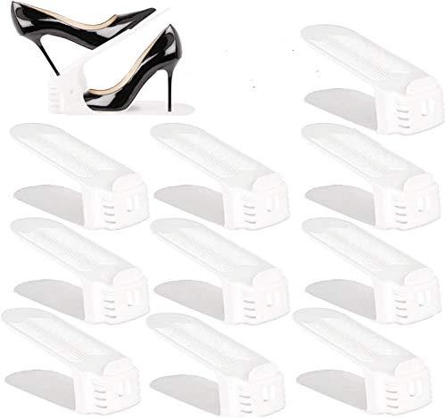 BIGLUFU Organizadores Ajustables de Zapatos con Ranuras...