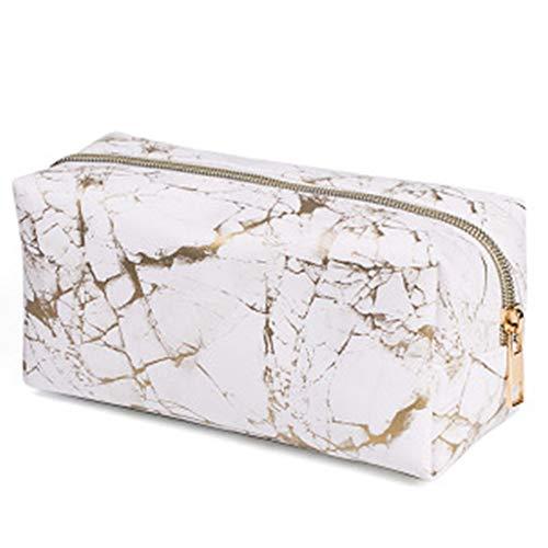 Xinlie Sacchetto Cosmetico in Marmo Borsa per Cosmetici Serie Impermeabile Marmo Borsa da Viaggio Borsa per Trucco Cosmetico Trucco Quadrata Borsa Cosmetica da Viaggio in Pelle PU per Donna e Ragazza