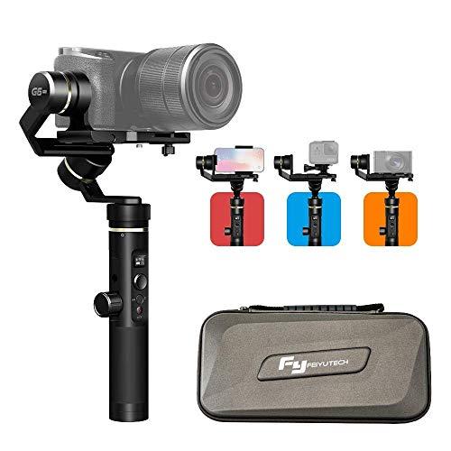 FeiyuTech G6PLUS Stabilizzatore Gimbal, 3-in-1 3 Assi Gimble per Actioncam/Telecamera Digitale/Smartphone, Carico 800g per iPhone/Huawei/Gopro Hero/Sony Videocamera