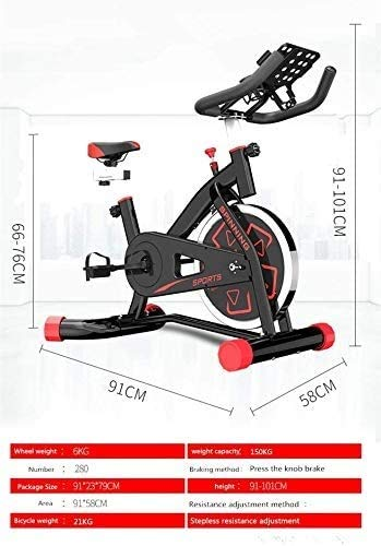 YFFSS Exercise Bikes, Indoor Cycling Bike with Home Ultra-Quiet Pedal Sports Fitness Bicycle Exercise Equipment,Professional Adjustable Indoor Lose Weight Spinning Fitness Bike (Color : White) 2