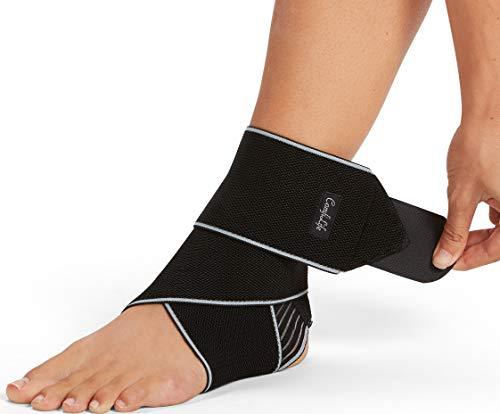 ComfiLife Ankle Brace for Men & Women  Adjustable Compression Ankle Support Wrap  Perfect Ankle Sleeve for Plantar Fasciitis, Achilles Tendon, Minor Sprains, Sports  Breathable, One Size Fits All