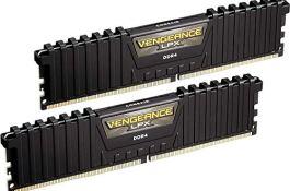 Corsair Vengeance LPX 16GB (2x8GB) DDR4 DRAM 3000MHz C15 Desktop Memory Kit - Black (CMK16GX4M2B3000C15)