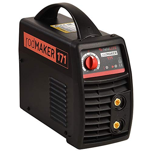 helviLITE 99805998 RodMaker 171 Poste à souder Inverter + kit mallette 230 V, noir, 160 A