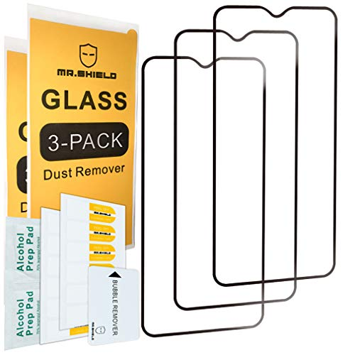[3-Pack]- Mr.Shield for OnePlus 7 [Japan Tempered Glass] [9H Hardness] [Full Screen Glue Cover] Screen Protector with Lifetime Replacement