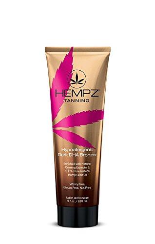 Hempz Dark DHA Bronzer, Hypoallergenic, 9 Ounce