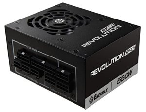 Enermax Revolution SFX 550W 80 Plus Gold Full Modular Semi-Fanless Power Supply with SFX-to-ATX PSU Adapter Bracket (ERV550SWT) |Free Q-Boom Bluetooth Speaker Inside|