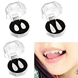 Halloween Party Props Vampire Teeth Fangs Dentures Plastic Fake Sharp Realistic Tooth Scary Costumes Cosplay Accessories Reusable13MM 15MM 17MM