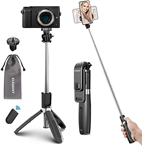 ELEGIANT Perche Selfie Trépied, Selfie Stick Bluetooth avec Télécommande...