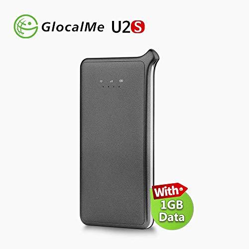 GlocalMe 4G Mobiler WiFi Hotspot Router, Keine SIM-Karte, in über 130 Ländern mit 1 GB globalen Daten (U2S-Grey)