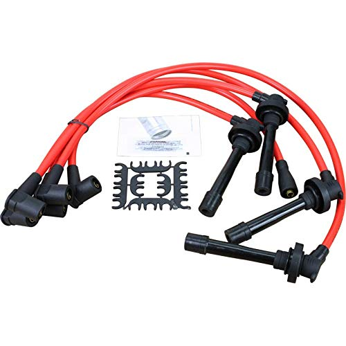 Dragon Fire Race Series High Performance 10.2mm Ignition Spark Plug Wire Set For All 1992-2002 Honda 4 Cylinders Oem Fit PWTD-DFSuper Low Resistance 150 ohms per Foot
