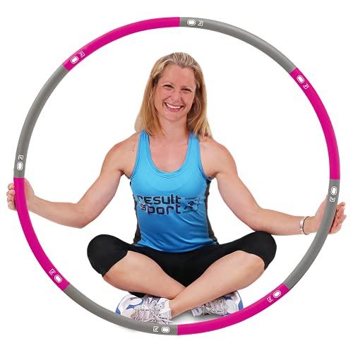 ResultSport Hula Hoop Reifen Erwachsene 1,2kg Gewicht 100cm breit, Weighted Fitnessreifen, Fitnessübungen...
