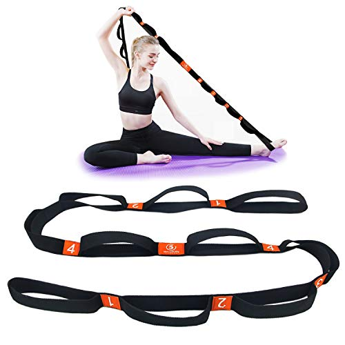 5BILLION Correa Yoga & Stretch Strap - Ancho de 4cm - Yoga Strap para...