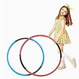 子供用のフラフープ取り外し可能な調節可能な重量/サイズの2つのプラスチック製子供フラフープ、フラフープゲーム、フィットネス、体操、ダンス、ペットトレーニングに適しています