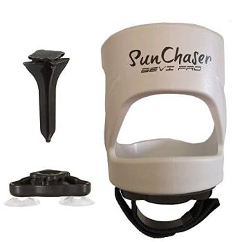 SunChaser Bevi Pro Outdoor Drink Holders for Beer Cans, Bottles, Cups, and Other Beverages - Picnics, Beach, Boats, RV's & More (White)