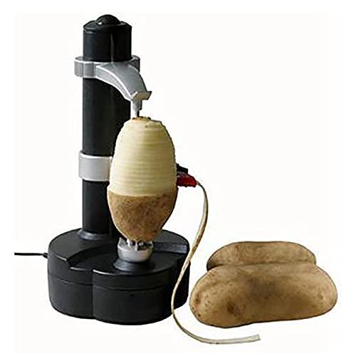 Glowjoy Automatischer Elektrischer KartoffelschäLer-Rotierender ApfelschäLer KartoffelschäLer,Multifunktions Edelstahl Obst GemüSe Elektrische SchäLmaschine,KüChen SchäLwerkzeug,Muttergeschenk (A)