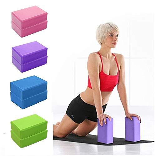 Bloque De Yoga, Bloque De Espuma Eva De Alta Densidad para Soportar Poses Más Profundas,...