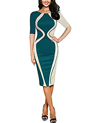 Material:65% Cotton + 35% Polyester , elastic Slim cutting, short sleeve,knees length. hand-wash and machine washable, dry clean High waist design to make you look thinner,Wash by cold water only, low iron if necessary. Size:Don't read Amazon size ch...