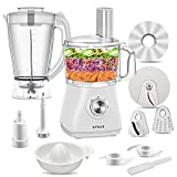 Food Processor Blender - High Speed Smoothie Blender,Blender Food Processor Combo,Coffee Grinder Cup,and Chopper Vegetable Meat Choppers for Puree,Fruit Salad