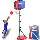 HAHAKEE Canestro Basket per Bambini, Regolabile Portatile Set da Basket, Stand per Pallacanestro per Bambini Sport Gioco Gioca Set Net, Ball, Air Pump