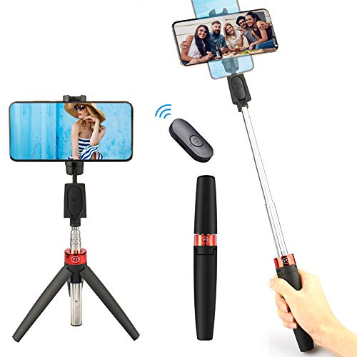 YOMERA Perche Selfie Bluetooth, 3 en 1 Mini Selfie Stick, Extensible...