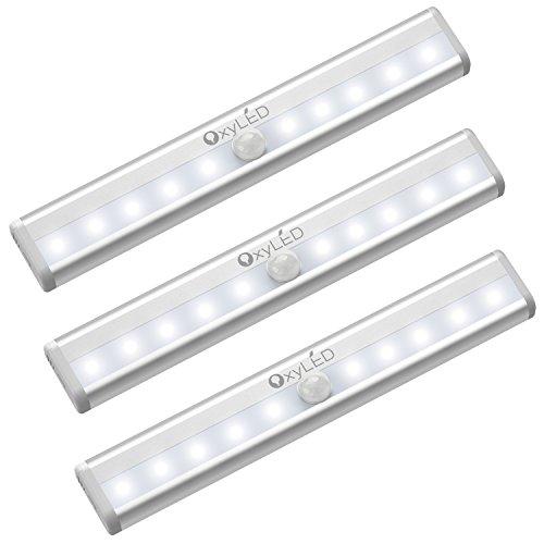 OxyLED Luci per armadio sensore di movimento,Illuminazione wireless sotto l'armadio,Stick on...