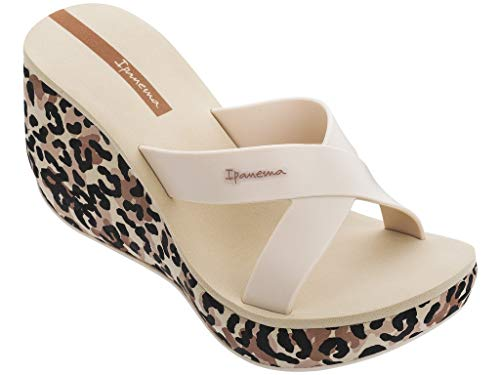 Ipanema Lipstick Straps Vi Zuecos Mujeres Beige - 39 - Zuecos (Mules) Shoes