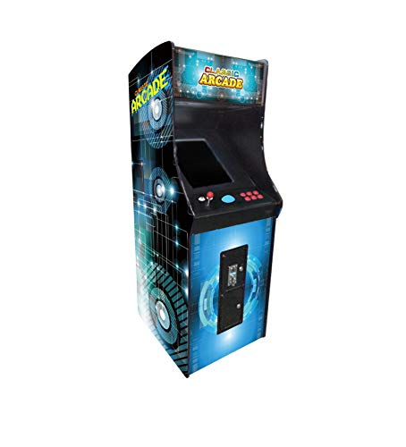 Creative-Arcades-Full-Size-Stand-Up-Commercial-Grade-Arcade-Machine-412-Games-22-LCD-Screen-1-Sanwa-Joystick-Trackball-2-Stools-Included-3-Year-Warranty