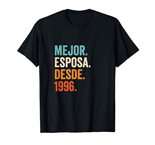 Mejor Esposa desde 1996 | 25 aniversario de boda matrimonio Camiseta