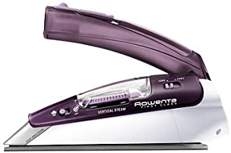 Rowenta DA1560 Travel-Ready 1000-Watt Compact Steam Iron Stainless Steel Soleplate..