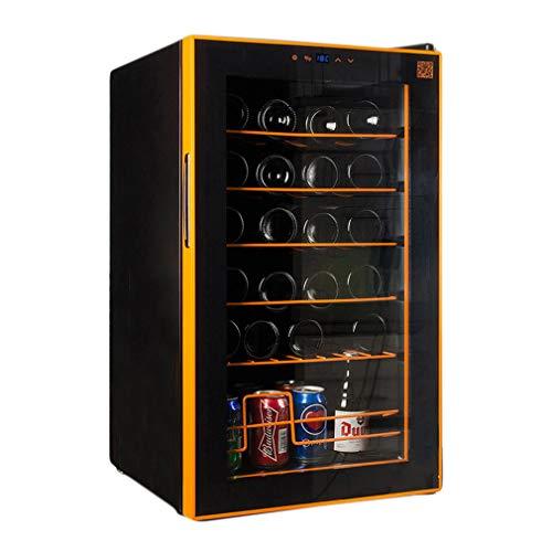 XUNMAIFWC Cantinetta Vino 24 Bottiglie, Sportello a Doppio Vetro Trasparente, Illuminazione Interna...