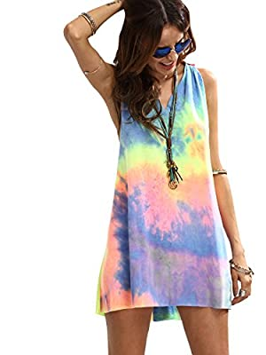 Attention: Because this dress used the unique personality fabric printing and dyeing technology, so the actual effect of each dress is not completely the same with display picture. This dress is VERY Short & Thin!!! The Way is too Big, and the hem is...