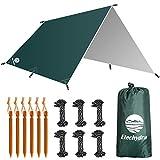 Etechydra Bâche Anti-Pluie 3 x 3m, Camping Bâche Rain Tarp Toile de Tente Ourdoor, randonnée,...