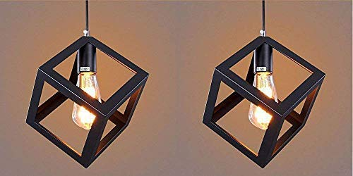 BRYTE SYN Metal Hanging Ceiling Pendant Decorative Lamp - Pack of 2 (Bulb not Included)
