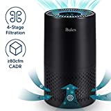 HEPA Air Purifier – Bulex Air Purifier with True HEPA Filter for 99.97% Purification, 4-Stage Filtration & Timing Function & Sleep Mode & Night Light, Easy to Set Air Purifier, Perfect for Bedroom