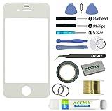 ACENIX Apple iPhone 4/4S Blanc écran tactile avant lentille en verre kit de...