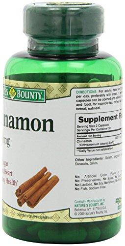 Nature's Bounty Cinnamon 1000mg, 100 Capsules (Pack of 6) 4