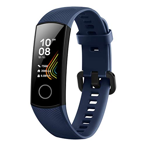 HONOR Band 5 (MidnightNavy)- Waterproof Full Color AMOLED Touchscreen, SpO2 (Blood Oxygen), Music Control, Watch Faces Store, up to 14 Day Battery Life