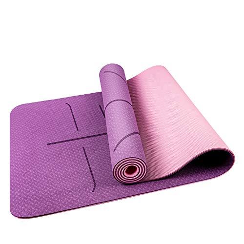 Oudort Esterilla Yoga Antideslizante, Yoga Mat de Material Ecológico...