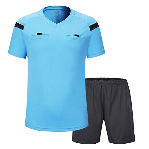 Shinestone - Camiseta de árbitro de manga corta para hombre, Informal, Hombre, color azul, tamaño 3XL