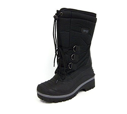 Ranger Mens A410 Tundra Snow Boot, Black (8)