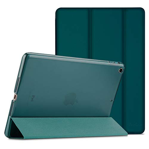 Procase iPad 9.7 Case 2018 iPad 6th Generation Case / 2017 iPad 5th Generation Case - Ultra Slim Lightweight Stand Case with Translucent Frosted Back Smart Cover for Apple iPad 9.7 Inch Emerald