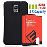 Galaxy Note 4 Extended Battery,SHENMZ Galaxy Note 4 11800mAh Replacement Battery with NFC + Soft TPU Full Edge Protective Case (Up to 3.3X Extra Battery Power) for Samsung Galaxy Note 4