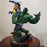 LLly Figurine D'Anime Wolverine Hulk Modèle Surdimensionné Statues De Personnages, Wolverine Vs Hulk PVC Figurines D'Anime Jouet, Peut Contenir 36 cm