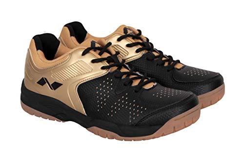 Nivia Zeal Tennis Shoes (5, Golden/Black)
